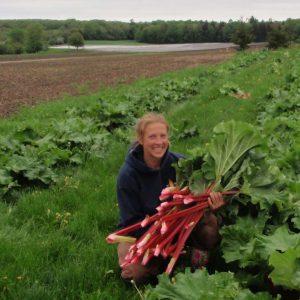 Kelty in Rhubarb Patch
