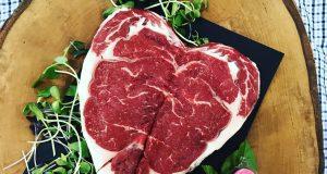 heart shaped steak